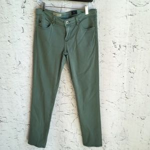 ADRIANO GOLDSCHMIED GREEN STEVIE ANKLE PANTS 28R